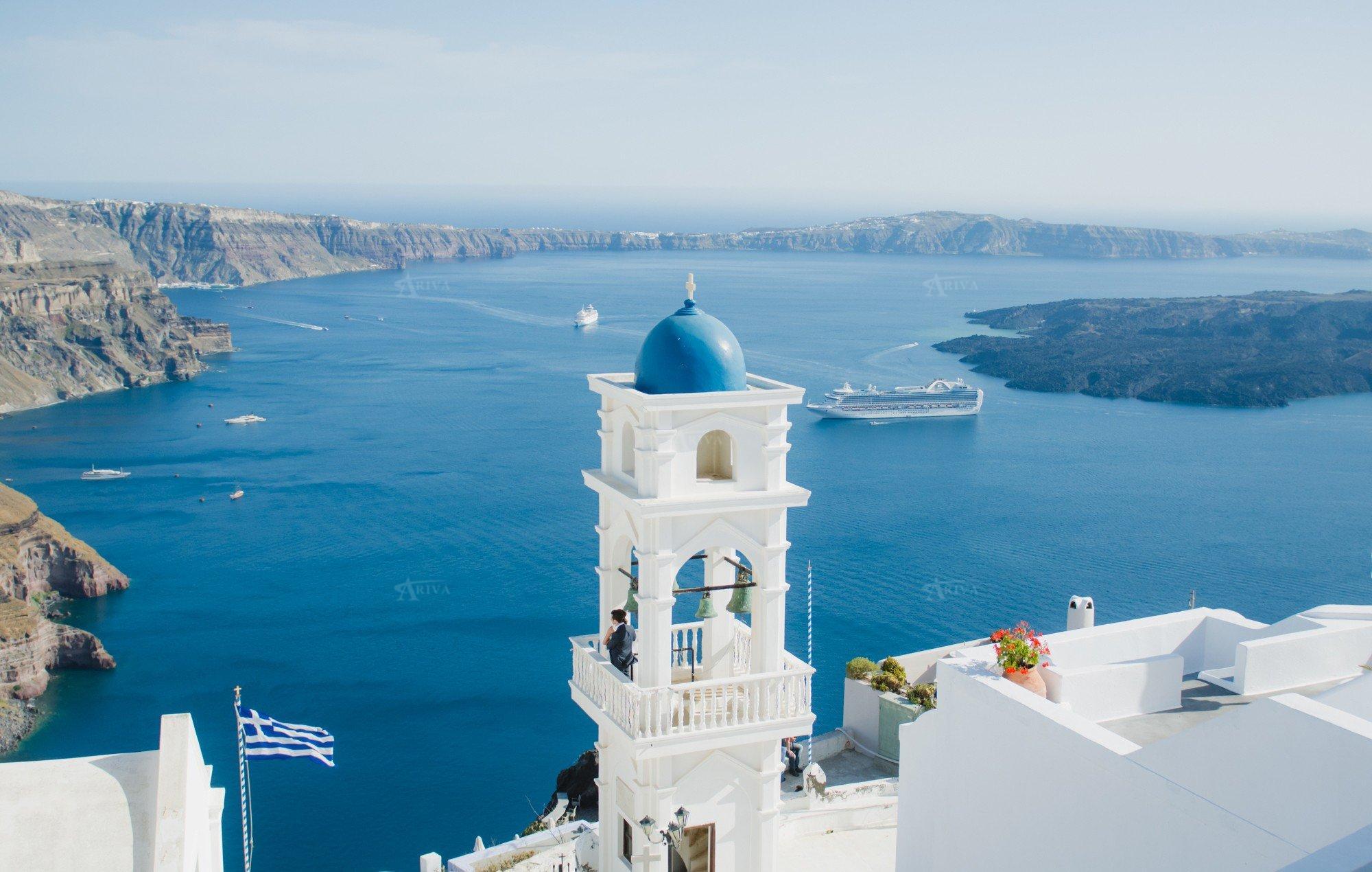 Cruise Ships Santorini