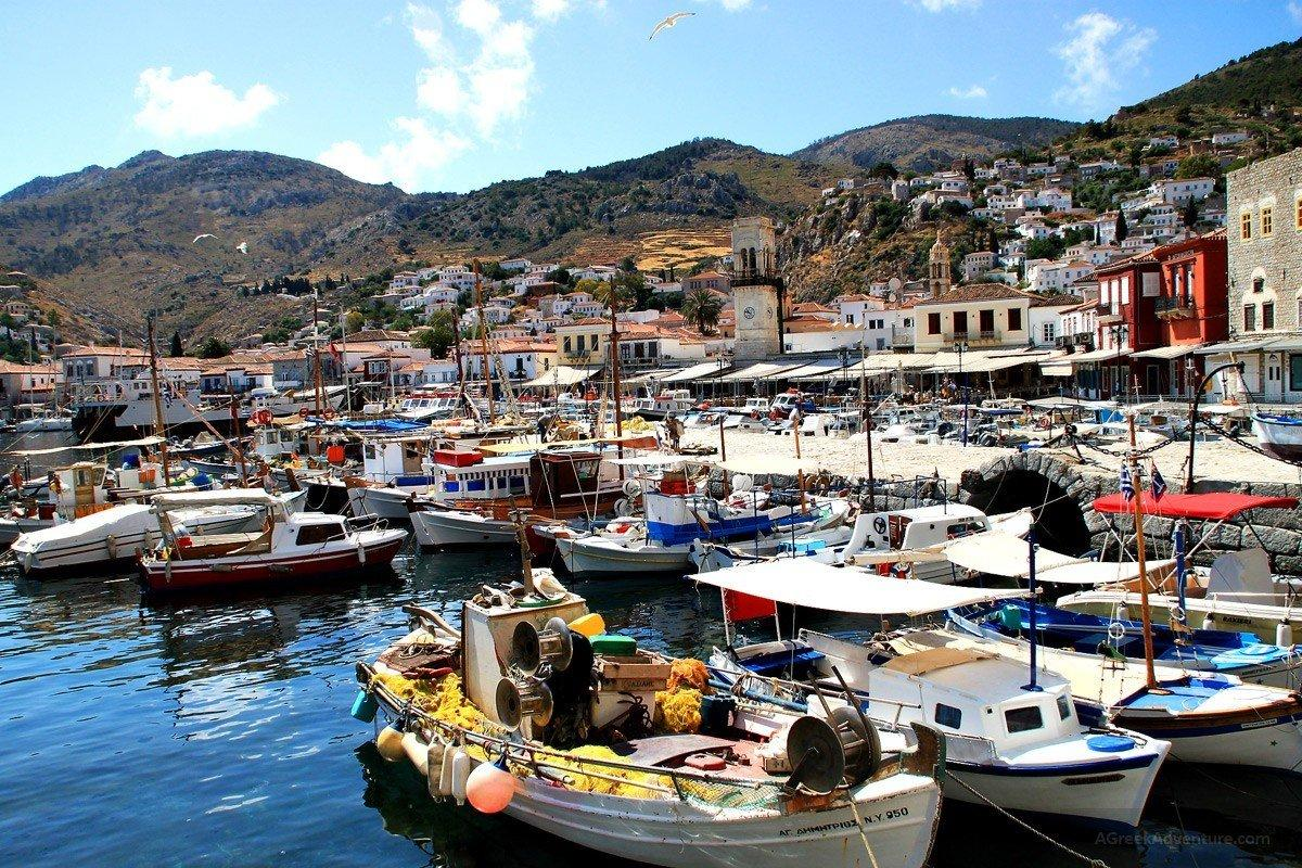 Fishermans In Hydra Island