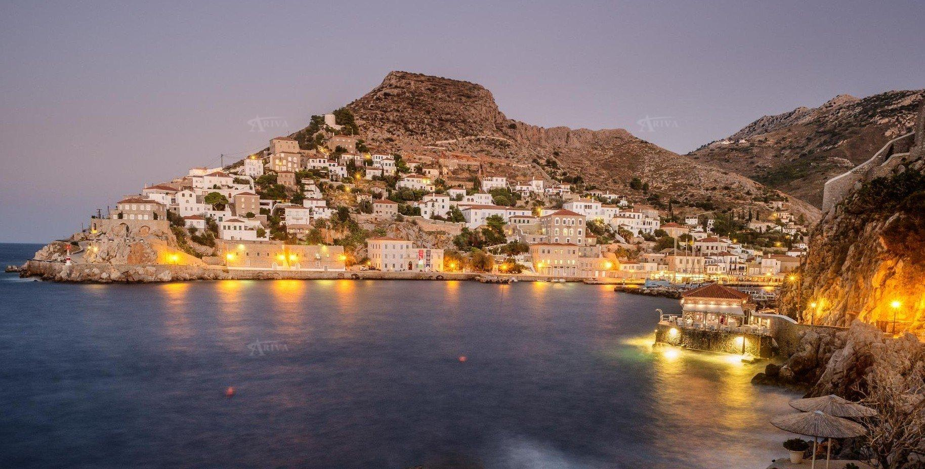 Hydra Islands At Night