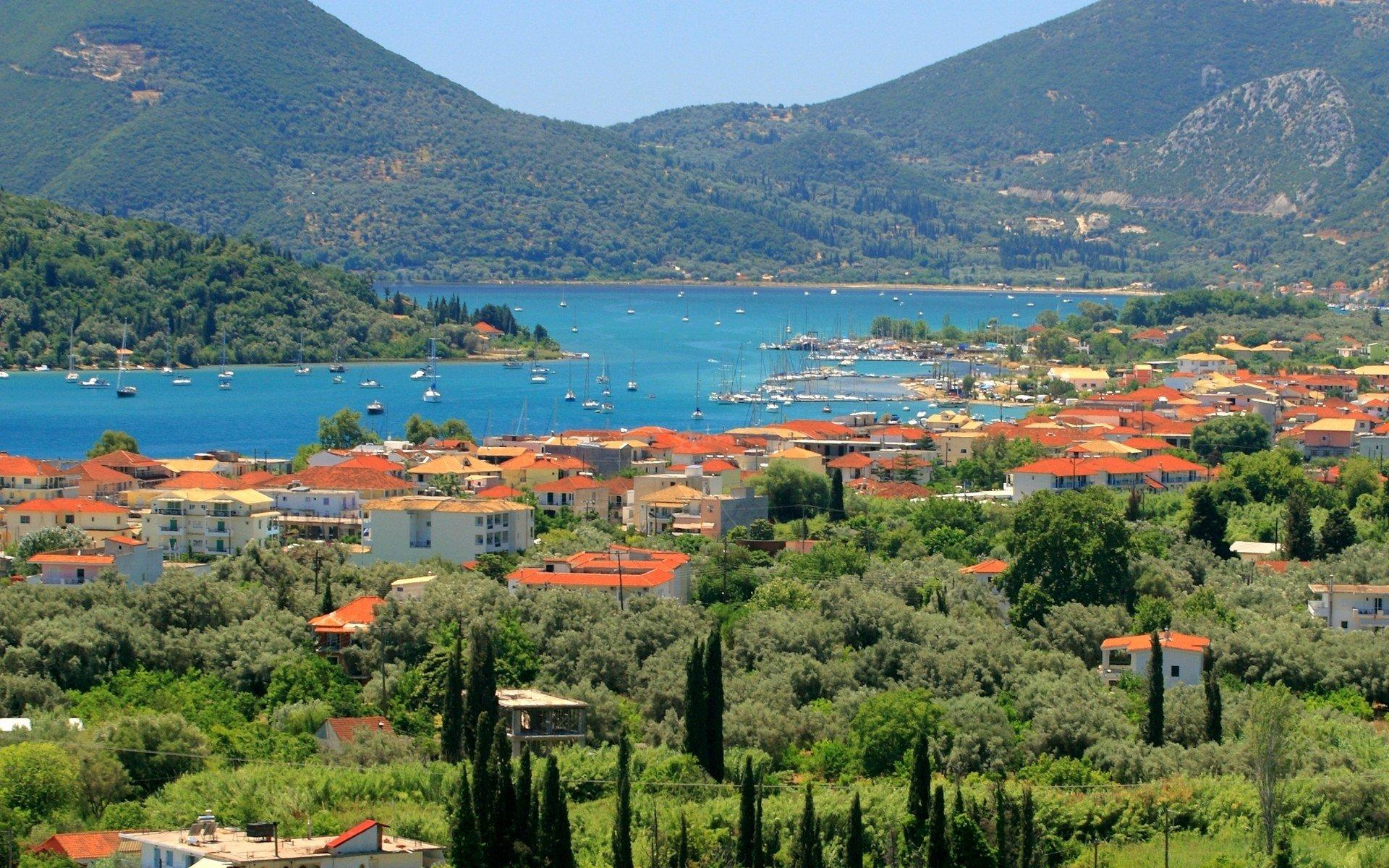 Nidri Harbour In Lefkada