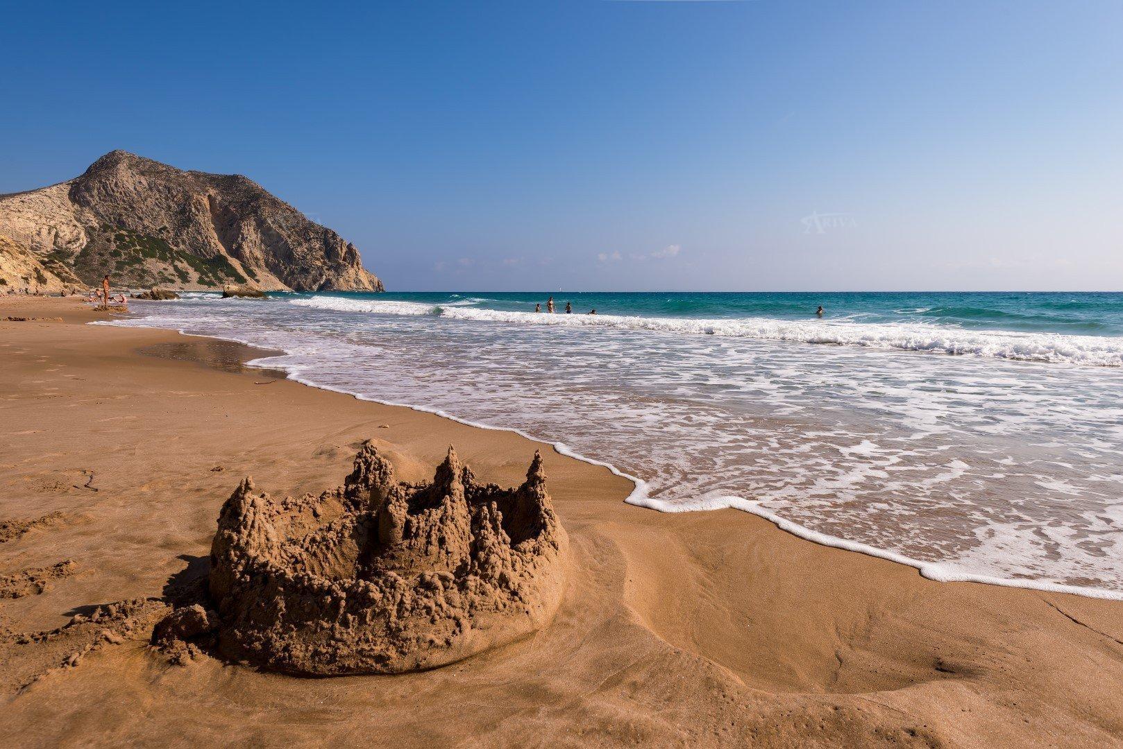 Sandy Beach In Kos