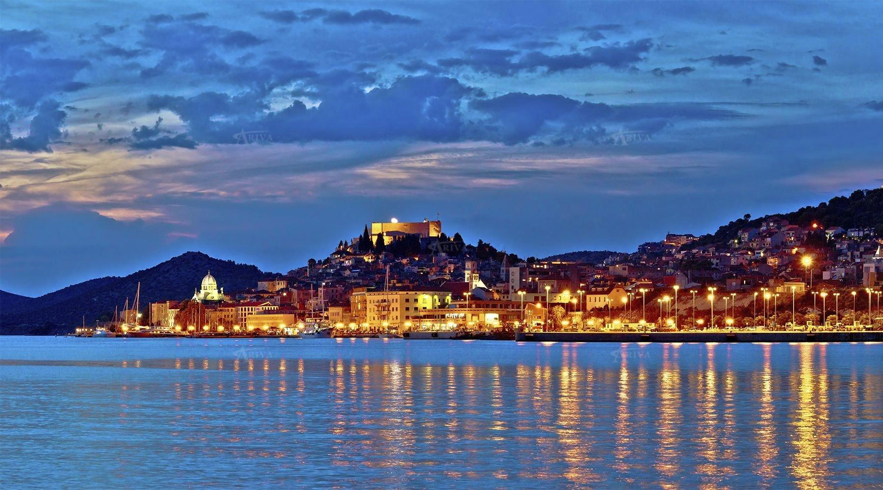Sibenik Croatia Night