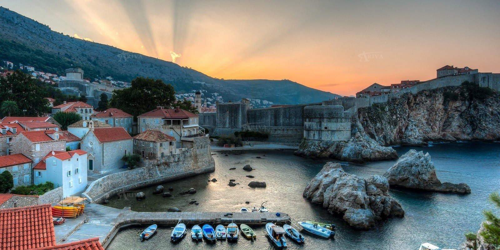 Sun Rising Dubrovnik