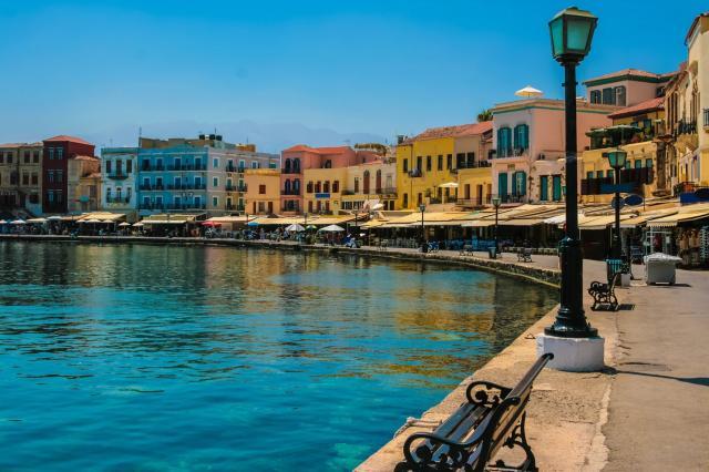 Chania On Island Of Crete