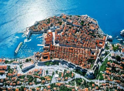 Croatia Dubrovnik From Air