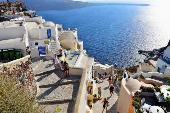 Walk In Santorini