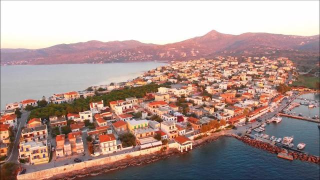 Aegina Island Air View