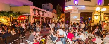 Bar Street In Kos Island