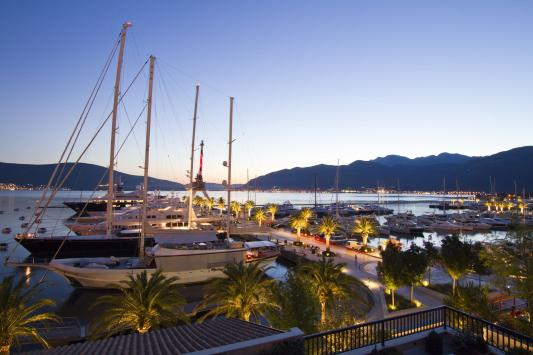 Montenegro Tivat Port Evning