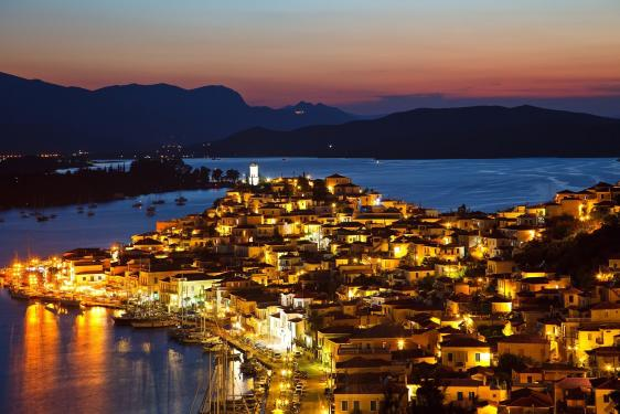 Night In Poros Island