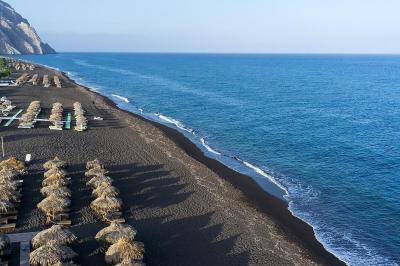 Santorini Black Sandy Beach