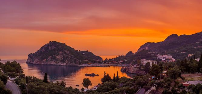 Sunset In Corfu