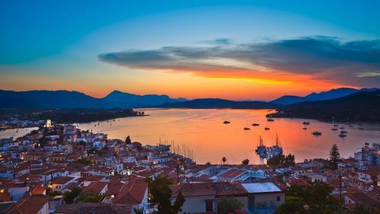 Sunset In Poros