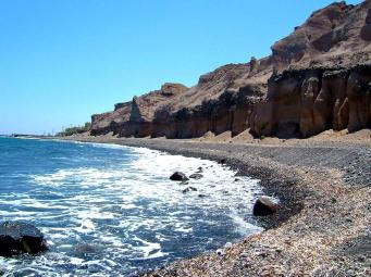 Vourvoulos Beach Santorini