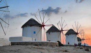 Windmills Mykonos Greek Island