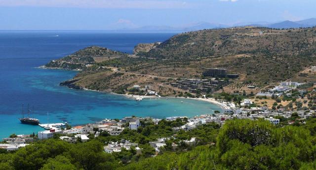 Yacht In Aegina Island