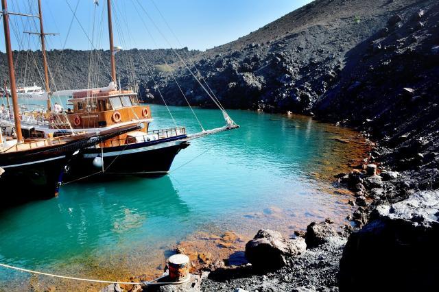 Yachts In Santorini